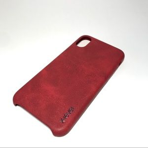 Other - Vintage leather Red iPhone Case
